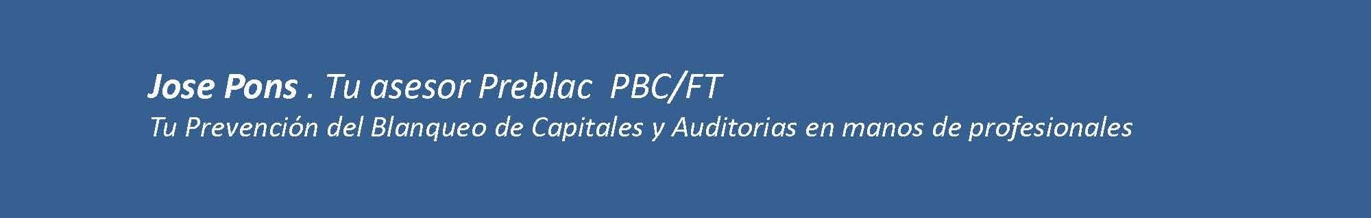 Jose Pons. Tu Asesor Preblac PBC/FT